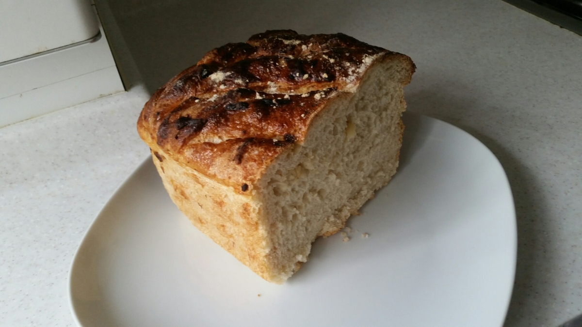 Roasted Garlic and Dried Rosemary Bread