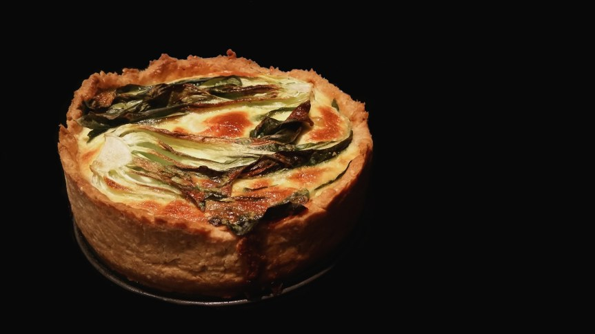 Salmon and Pak Choi Quiche