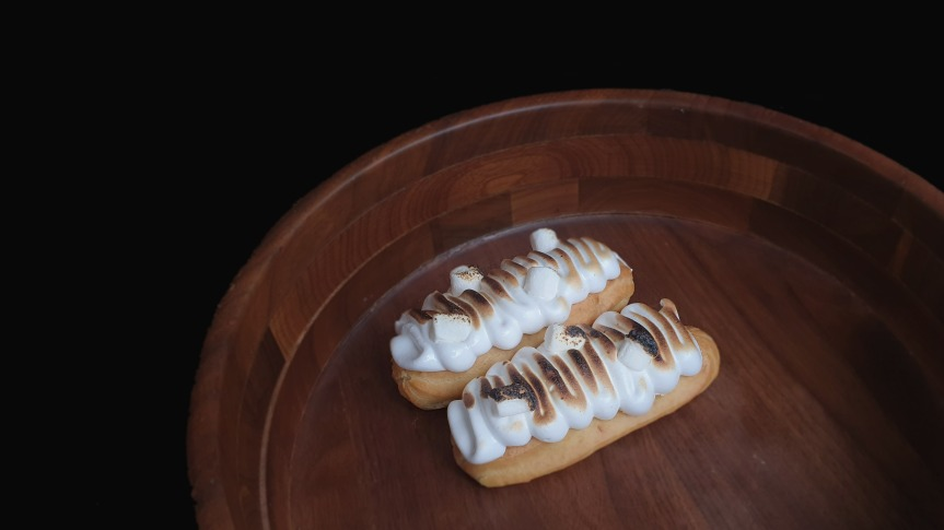 Sweet Potato Eclairs with Toasted MarshmallowFrosting